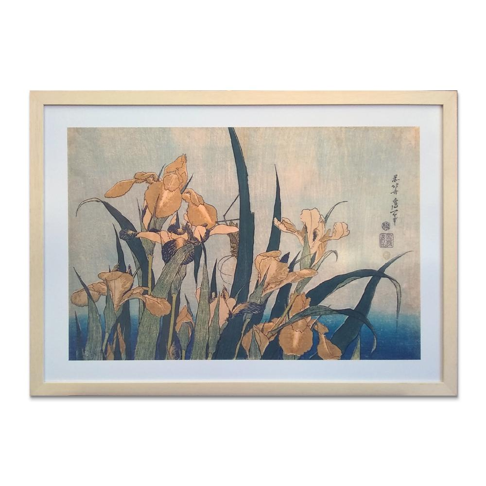 cuadro Saltamonte e iris, Hokusai
