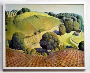 Cuadro Young Corn Grant Wood Enmarcado de laminas