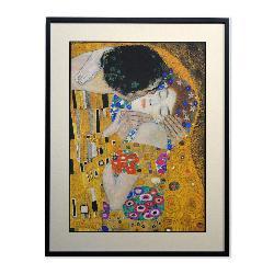 Cuadro El Beso (detalle rostros) Klimt Enmarcado de laminas