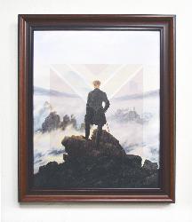 Cuadro El caminante sobre el mar de nubes Enmarcado de laminas
