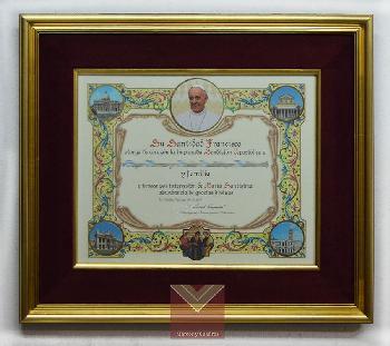 Enmarcado Bendicion Papal  Enmarcado de laminas
