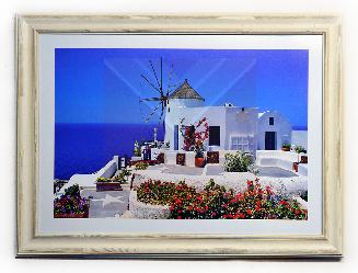 Cuadro paisaje Santorini Enmarcado de cuadros