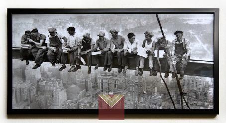 Cuadro lámina Almuerzo sobre un rascacielos Enmarcado de laminas