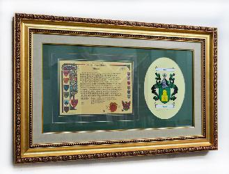 Enmarcado escudo familiar  Marcos y Cuadros