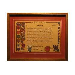 Enmarcado de Historia del apellido Enmarcado de laminas