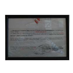 Enmarcado de certificado independiente Enmarcado de laminas