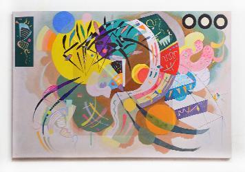 Cuadro Kandinsky Curva dominante Enmarcado de laminas