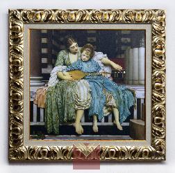 Cuadro La Leccion de Musica Leighton Enmarcado de cuadros