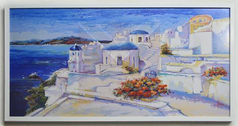 Cuadro Santorini Enmarcado de laminas