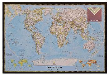 Cuadro mapamundi Enmarcado de laminas