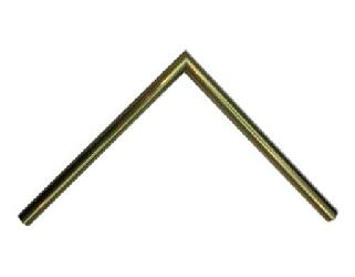 Aluminio 15 x 30 mm oro Enmarcado de laminas