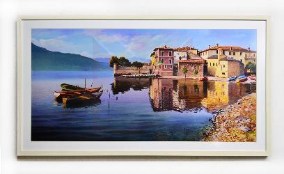Cuadro Paisaje mediterráneo Enmarcado de cuadros