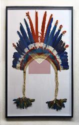Enmarcado sombrero de plumas Marcos y Cuadros