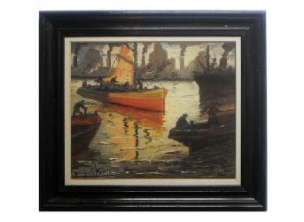 Cuadro - Barcas Iluminadas Marcos y Cuadros