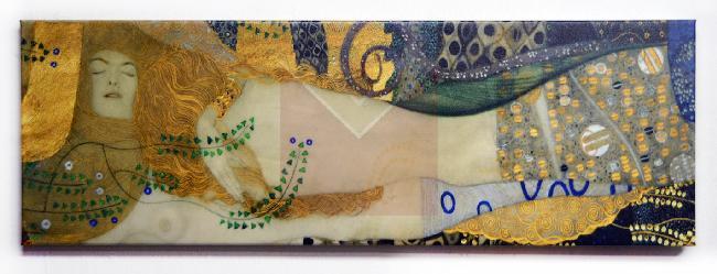 Cuadro Serpientes de agua, Klimt Enmarcado de laminas