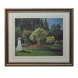 Cuadro  Signora in Giardino Monet Enmarcado de cuadros