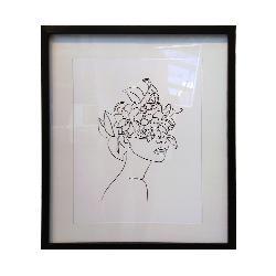 cuadro rostro con flores Marcos y Cuadros