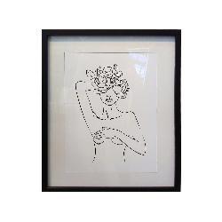cuadro silueta con flores Marcos y Cuadros