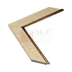 Simil tela 45 mm con filete dorado Enmarcado de laminas