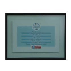 Enmarcado de certificado telefonica Enmarcado de laminas
