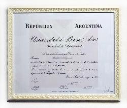 Enmarcado diploma Enmarcado de laminas