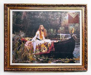 Cuadro La Dama de Shalott, John William Enmarcado de cuadros